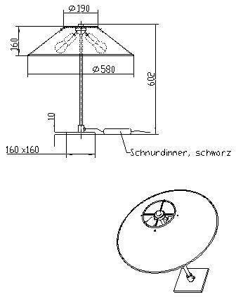 Skizze Tischleuchte CHROME - designedby Peter Preller